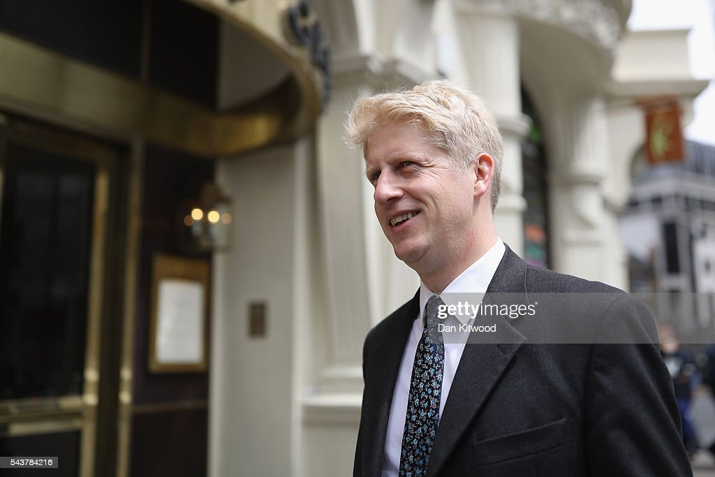 Jo Johnson MP is seen after Former London Mayor and Conservative MP Boris Johnson ruled himself out of becoming the next Conservative party leader at St Ermin's Hotel on June 30, 2016 in London, England. Nominations for MP's to declare their intention to run for the Conservative Party Leadership and therefore British Prime Minister will close by noon today. The current Prime Minister and party leader, David Cameron, announced his resignation the day after the UK voted to leave the European Union.