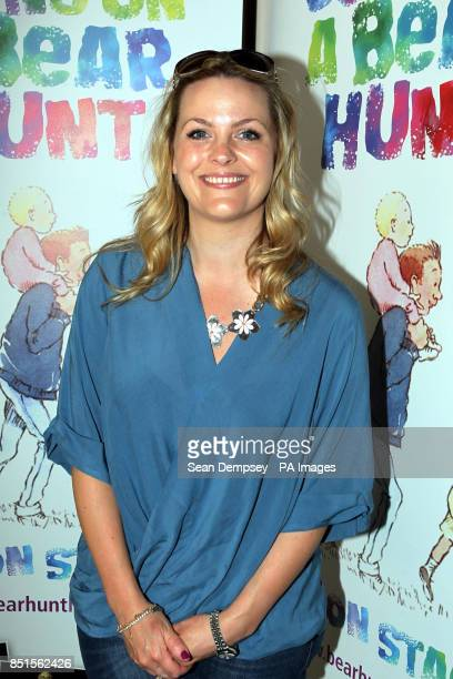 Jo Joyner attending a special performance show of We're Going On A Bear Hunt at the Lyric Theatre