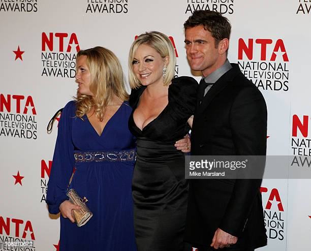 Jo Joyner Rita Simons and Scott Maslen pose in the press room at the The National Television Awards at the O2 Arena on January 26 2011 in London...