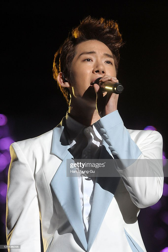 Jo Kwon of 2AM performs onstage during the Incheon Korean Wave Festival 2011 at Incheon World Cup Stadium on August 13, 2011 in Incheon, South Korea.