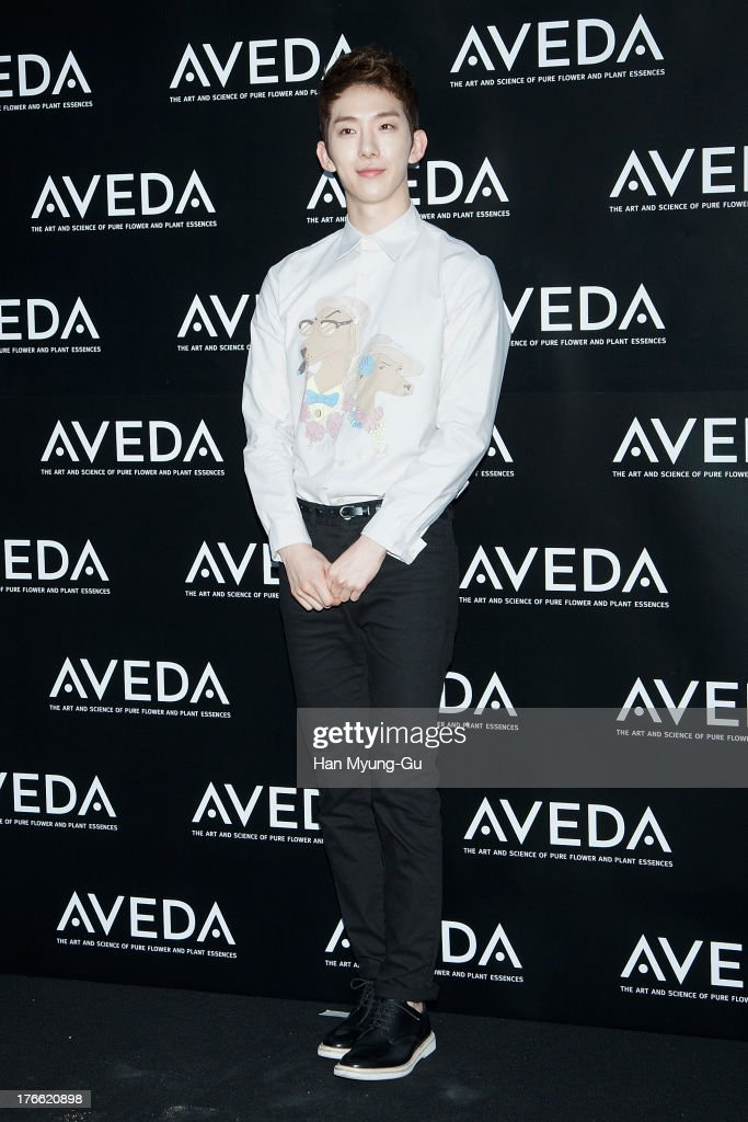 Jo Kwon of South Korean boy band 2AM attends during the 'AVEDA' Experience Centre opening event on August 14, 2013 in Seoul, South Korea.