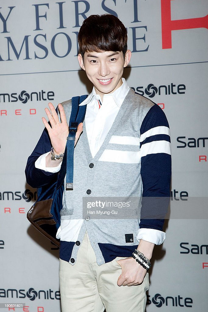Jo Kwon of South Korean boy band 2AM attends during the 'Samsonite Red' 2012 F/W Pop Up Art Exhibition on August 23, 2012 in Seoul, South Korea.