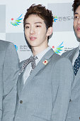 Jo Kwon of South Korean boy band 2AM attends the '2013 Incheon Korean Music Wave' Photocall at Incheon Munhak Stadium on September 1 2013 in Incheon...