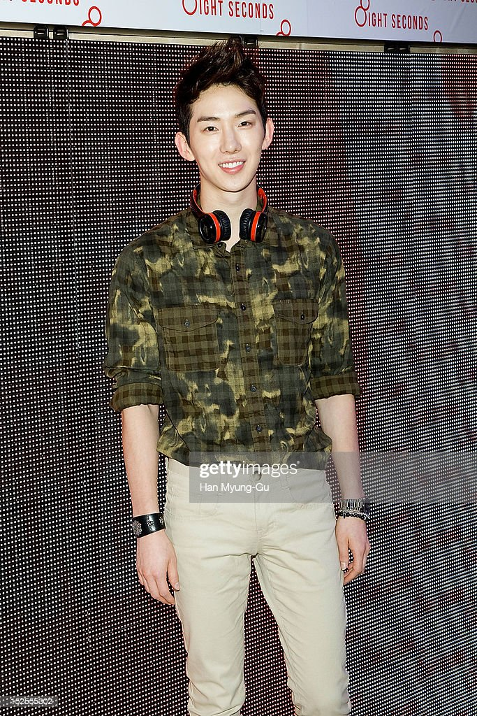 Jo Kwon of South Korean boy band 2AM attends the '8ight Seconds' Store Opening at Gangnam 8ight Seconds store on September 21 2012 in Seoul South...