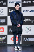 Jo Kwon of South Korean boy band 2AM attends the photocall for the Tekken7 20th Anniversary at W Tower on January 28 2015 in Seoul South Korea