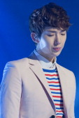 Jo Kwon of South Korean boy band 2AM performs onstage during the MBC Music 'Show Champion' at UniqloAX Hall on March 20 2013 in Seoul South Korea