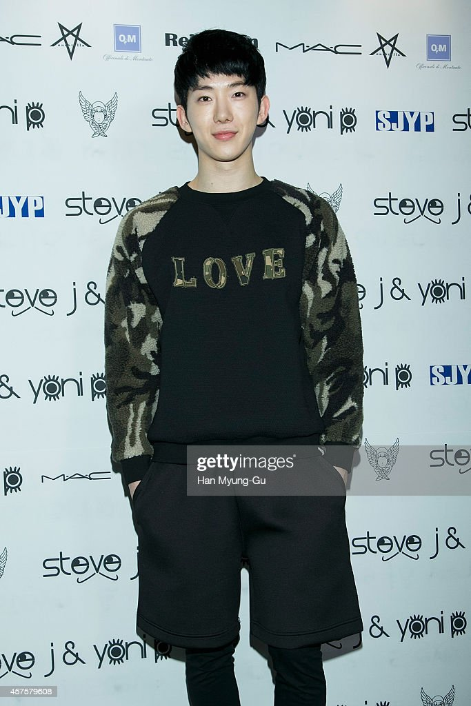 Jo Kwon of South Korean boy band 2AM poses for photographs at the Steve J and Yoni P show as part of Seoul Fashion Week S/S 2015 at DDP on October 20, 2014 in Seoul, South Korea.
