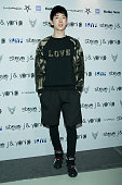 KOREA OCTOBER Jo Kwon of South Korean boy band 2AM poses for photographs at the Steve J and Yoni P show as part of Seoul Fashion Week S/S 2015 at DDP...