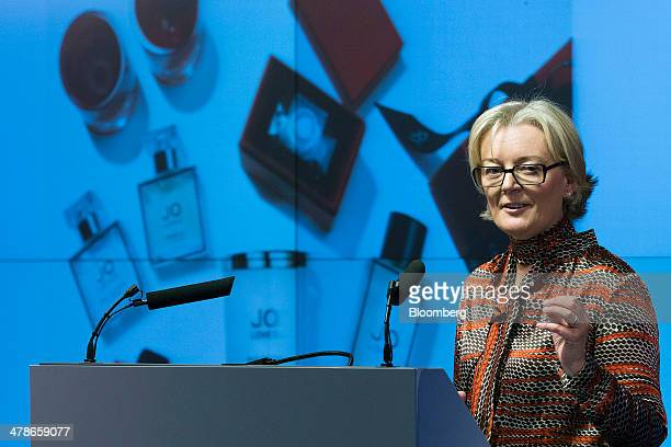 Jo Malone founder of Jo Loves the luxury retailer of fragrances perfumes and candles speaks during a 'Women in Business' event in London UK on Friday...