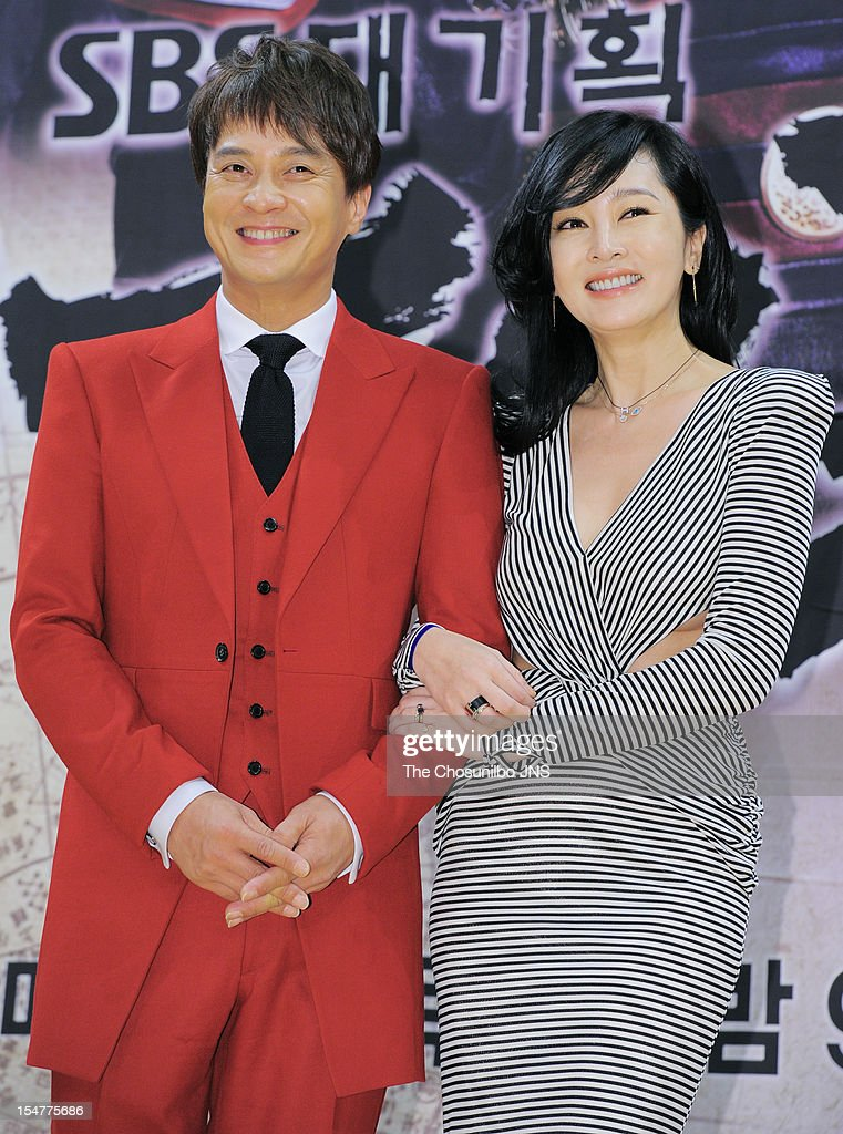 Jo Min-Ki and Lee Seung-Yeon attend the SBS Drama 'The Great Seer' Press Conference at SBS Building on September 26, 2012 in Seoul, South Korea.