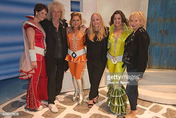 Jo Napthine Brian May Mazz Murray Kerry Ellis Dianne Pilkington and producer Judy Craymer attends the debut performance of the new West End company...