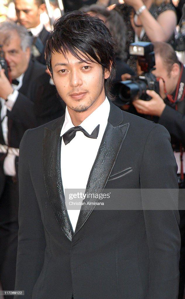 Jo Odagiri during 2005 Cannes Film Festival - The Three Burials of Melquiades Estrada Premiere in Cannes, France.