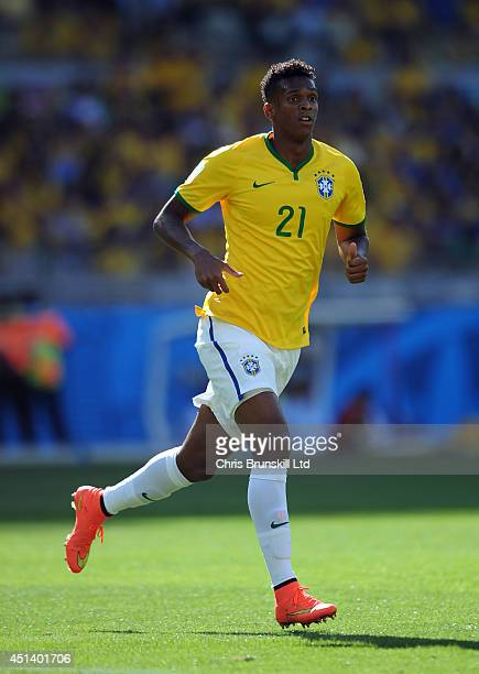 Jo of Brazil in action during the 2014 FIFA World Cup Brazil Round of 16 match between Brazil and Chile at Estadio Mineirao on June 28 2014 in Belo...