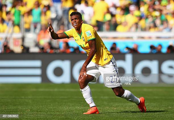 Jo of Brazil reacts during the 2014 FIFA World Cup Brazil Round of 16 match between Brazil and Chile at Estadio Mineirao on June 28 2014 in Belo...