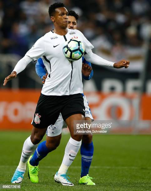 Jo of Corinthians in action during the match between Corinthians and Cruzeiro for the Brasileirao Series A 2017 at Arena Corinthians Stadium on June...