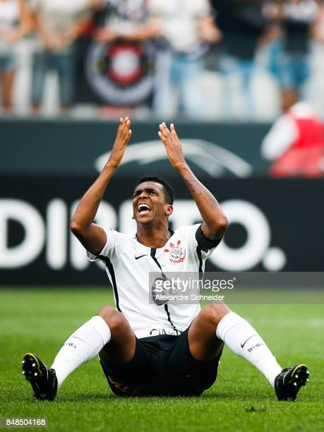 Jo of Corinthians in action during the match between Corinthians and Vasco da Gama for the Brasileirao Series A 2017 at Arena Corinthians Stadium on...