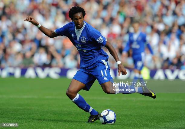Jo of Everton in action during the Barclays Premier League match between Burnley and Everton at Turf Moor on August 23 2009 in Burnley England