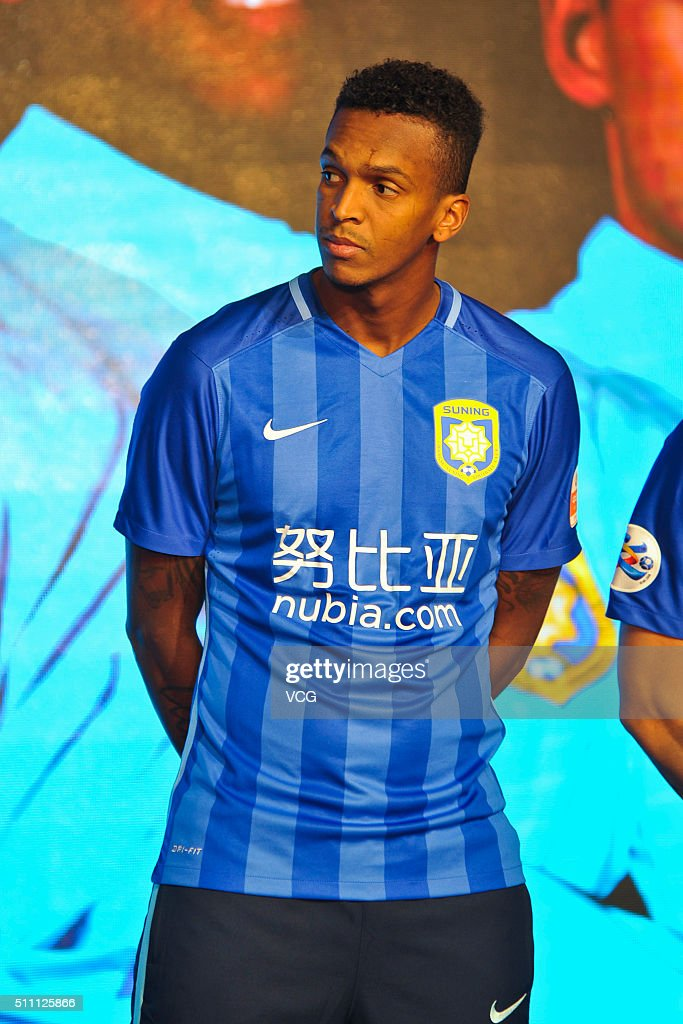 Jo of Jiangsu Suning FC attends the mobilization meeting for the AFC Champions League 2016 on February 18 2016 in Nanjing China