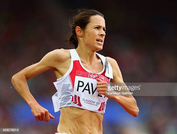Jo Pavey of England competes in the Women's 5000 metres final at Hampden Park during day ten of the Glasgow 2014 Commonwealth Games on August 2 2014...