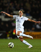 Jo Potter of England in action during the Women's Friendly International match between England and USA at Stadium mk on February 13 2015 in Milton...