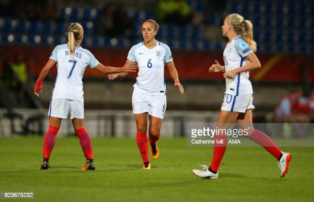 Jo Potter of England Women during the UEFA Women's Euro 2017 match between Portugal and England at Koning Willem II Stadium on July 27 2017 in...