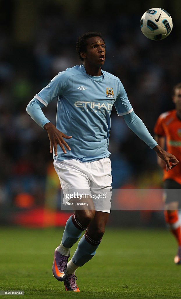 <a gi-track='captionPersonalityLinkClicked' href=/galleries/search?phrase=Jo+Silva&family=editorial&specificpeople=5447304 ng-click='$event.stopPropagation()'>Jo Silva</a> of Manchester City during the pre-season friendly match between Manchester City and Valencia at the City of Manchester Stadium on August 7, 2010 in Manchester, England.