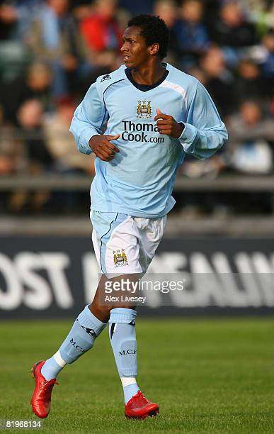 Jo Silva of Manchester City during the UEFA Cup 1st Round 1st Leg Qualifying match between EB/Streymur and Manchester City at the Torsvollur Stadium...