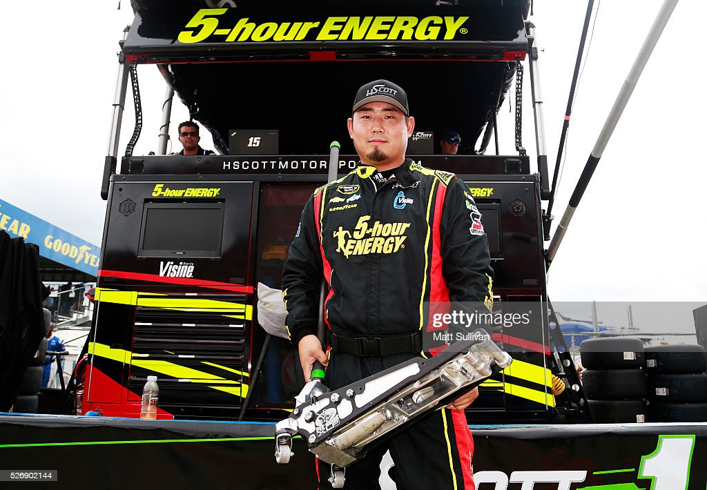Jo So, jackman for Clint Bowyer, driver of the #15 AccuDoc Solutions Chevrolet, poses for a photo prior to the NASCAR Sprint Cup Series GEICO 500 at Talladega Superspeedway on May 1, 2016 in Talladega, Alabama.