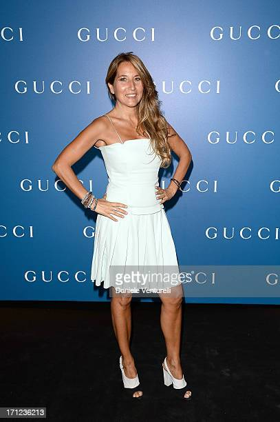 Jo Squillo attends Gucci Men's Flagship Store Opening and Launch of Gucci Made to Measure Capsule Collection 'Lapo's Wardrobe' on June 23 2013 in...