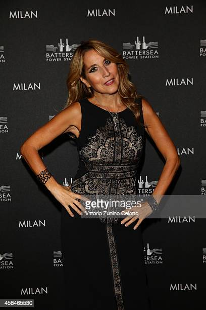 Jo Squillo attends the Battersea Power Station launch party to celebrate the launch of its Global Tour at Magna Pars Suites on November 5 2014 in...
