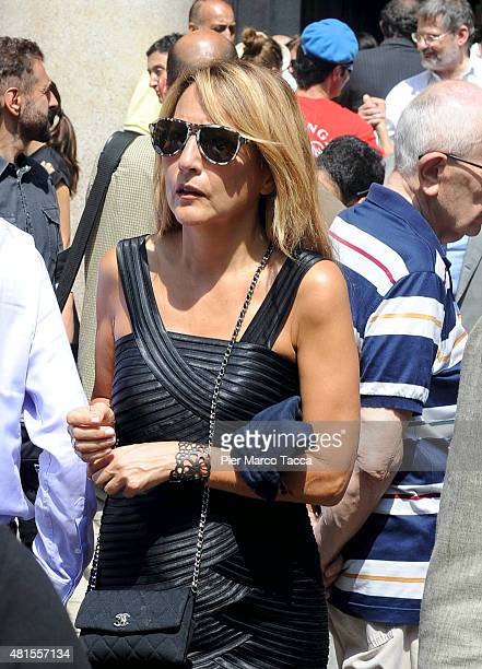 Jo Squillo attends the funeral of Elio Fiorucci on July 22 2015 in Milan Italy Stylist Elio Fiorucci was one of the most important Italian designers...