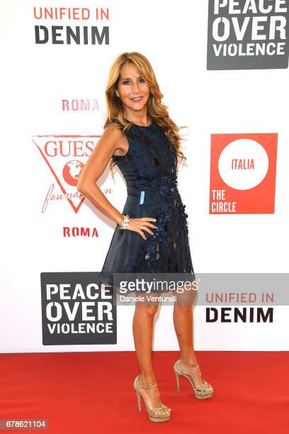Jo Squillo attends the Guess Foundation Denim Day 2017 at Palazzo Barberini on May 4 2017 in Rome Italy