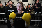 GBR: Jo Swinson Campaigns At Boxing Gym For Young People