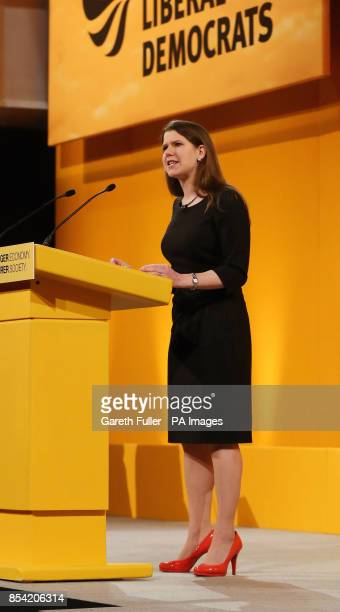 Jo Swinson Under Secretary of State for Employment Relations delivers her speech during the Liberal Democrat's Spring Conference at the Hilton...