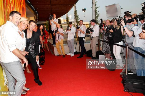 Jo Weil Claudia Effenberg and Marcel Remus attend the Remus Lifestyle Night on August 3 2017 in Palma de Mallorca Spain