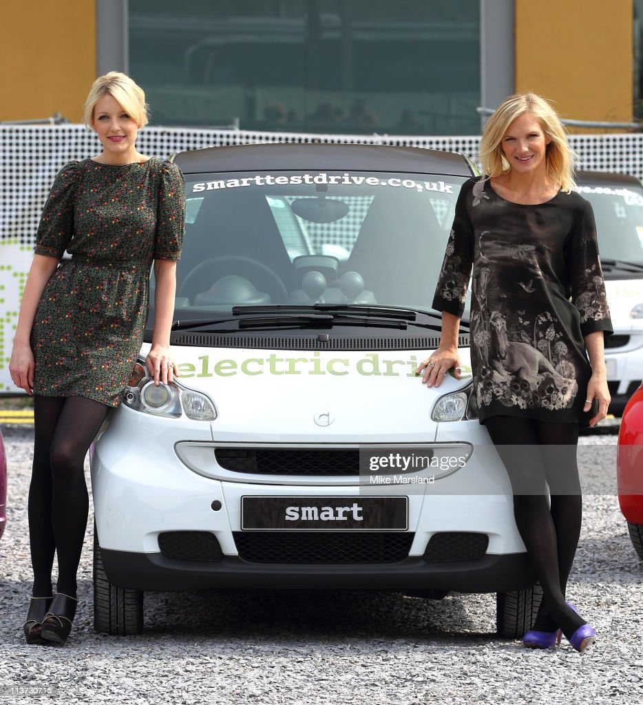Jo Whiley and Lauren Laverne attend the photocall for the Smart Urban Stage Future Minds Exhibition at Doon Street Car Park on May 5 2011 in London...