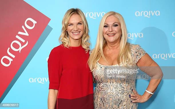 Jo Whiley and Vanessa Feltz attend the Radio Academy Arqiva Hall Of Fame at The Savoy Hotel on December 4 2014 in London England
