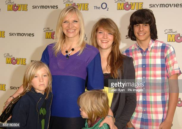 Jo Whiley arrives for the UK Premiere of The Simpsons Movie at the Vue Cinema The O2 Peninsula Square London