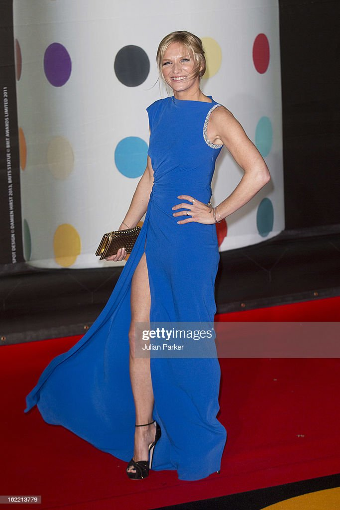 Jo Whiley attends the Brit Awards 2013 at the 02 Arena on February 20, 2013 in London, England.