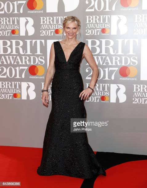 Jo Whiley attends The BRIT Awards 2017 at The O2 Arena on February 22 2017 in London England