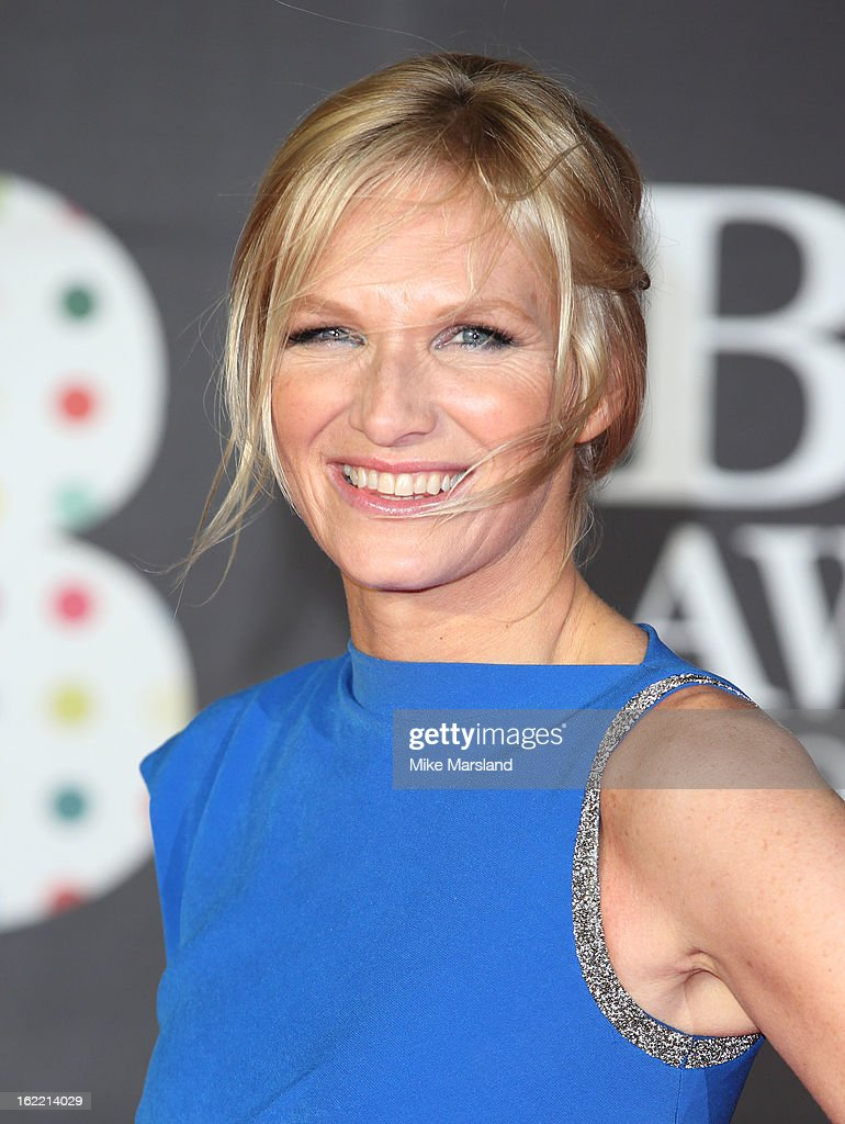 Jo Whiley attends the Brit Awards at 02 Arena on February 20, 2013 in London, England.
