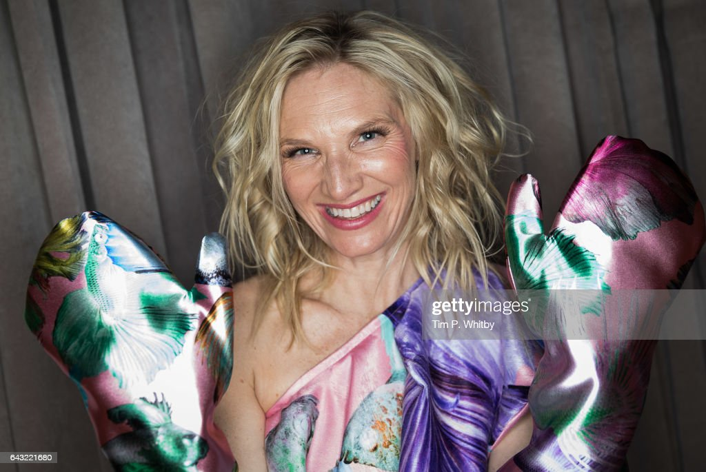 Jo Whiley backstage ahead of the Vin + Omi show during the London Fashion Week February 2017 collections at the Sanderson Hotel on February 20, 2017 in London, England.