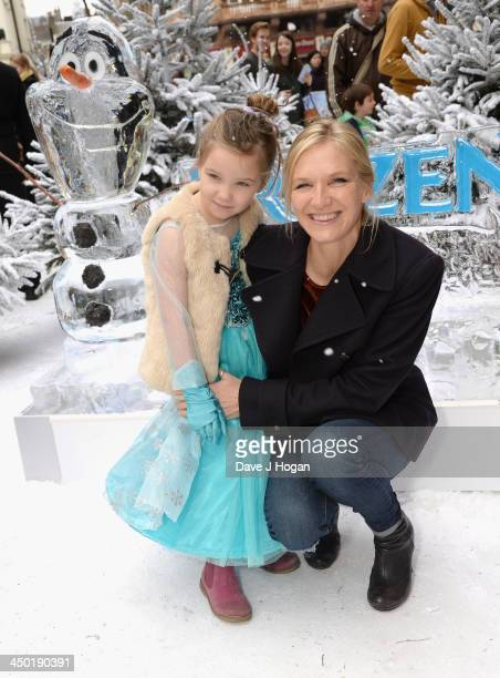 Jo Whiley with her daughter Coco attend Disney's 'Frozen' celebrity screening at the Odeon Leicester Square on November 17 2013 in London England