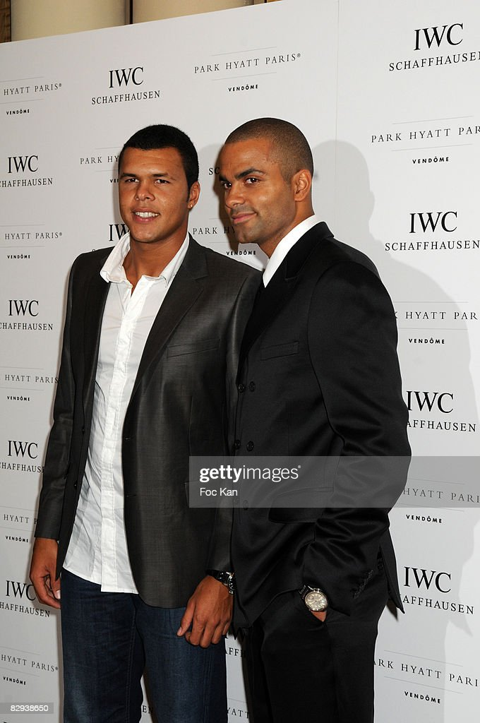 ¿Cuánto mide Tony Parker? - Real height Jo-wilfried-tsonga-and-tony-parker-attend-the-iwc-schaffhausen-party-picture-id82938650
