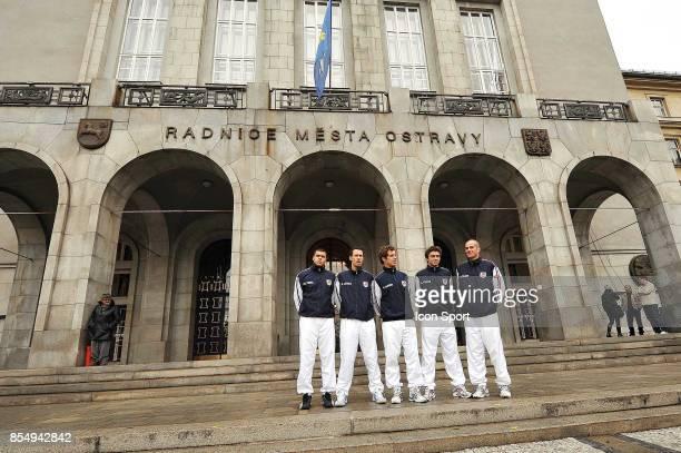 Jo Wilfried TSONGA Michael LLODRA Richard GASQUET Gilles SIMON Guy FORGET Tirage au sort Coupe Davis Republique Tcheque / France Ostrava
