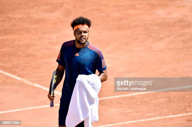 Jo Wilfried Tsonga of France during the Final of Open Parc of Lyon 2017 on May 27 2017 in Lyon France