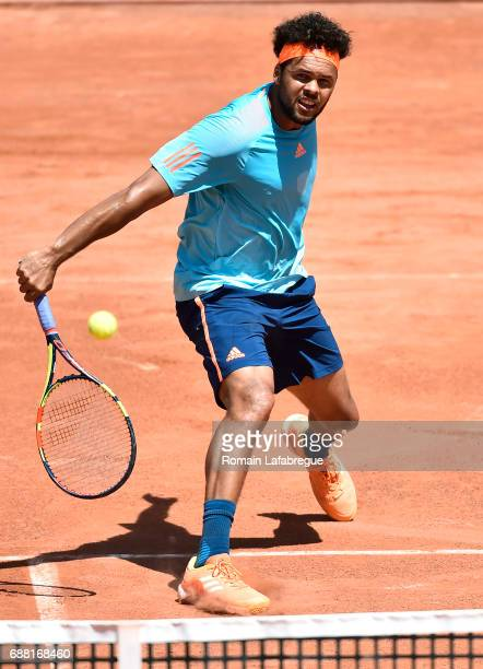 Jo Wilfried Tsonga of France during the Open Parc of Lyon 2017 quarter final day 6 on May 25 2017 in Lyon France