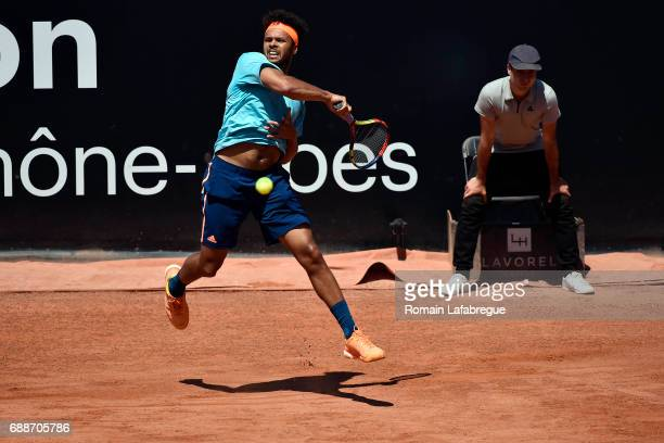 Jo Wilfried Tsonga of France during the Open Parc of Lyon 2017 on May 26 2017 in Lyon France
