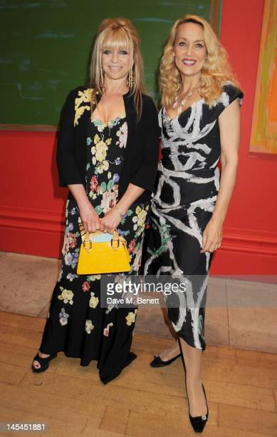 Jo Wood and Jerry Hall attend the Royal Academy of Arts Summer Exhibition Preview Party at Royal Academy of Arts on May 30 2012 in London England