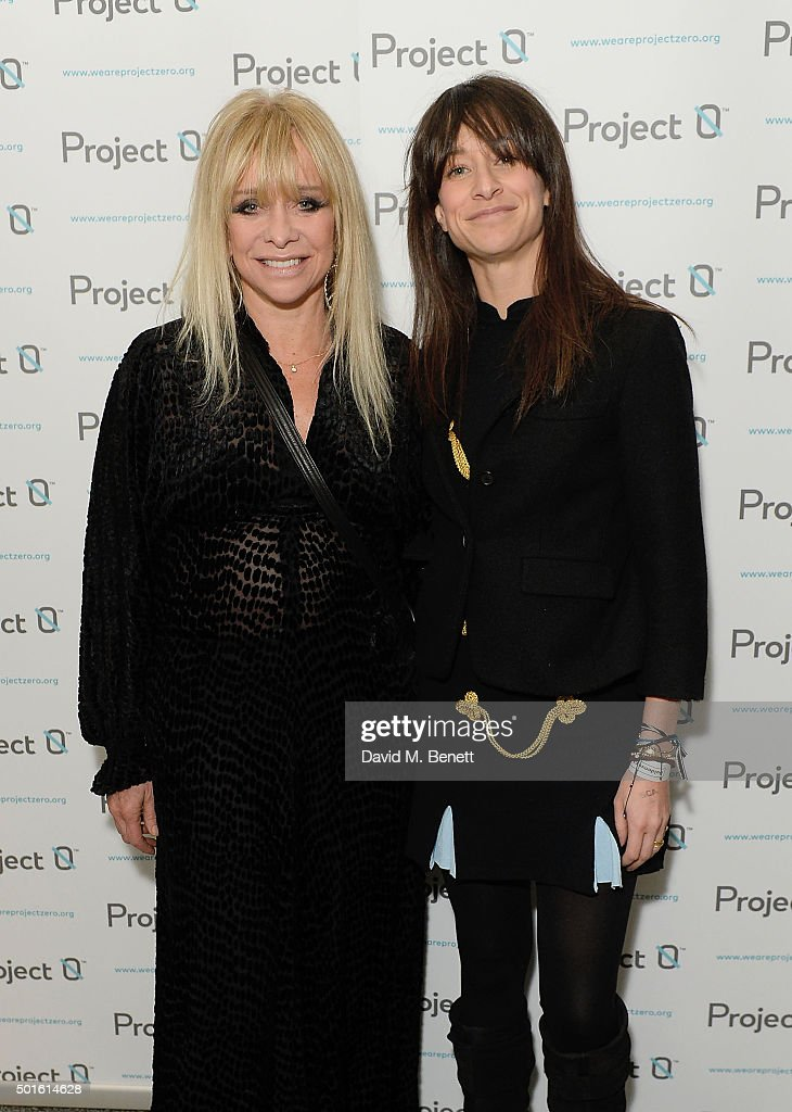 Jo Wood and Leah Wood attend the Project-0 Wave Makers Marine Conservation concert at Scala on December 16, 2015 in London, England.